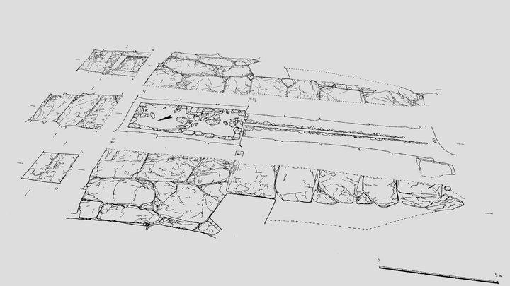 奈良県_明日香村_石舞台古墳実測図 点群化 3D Model