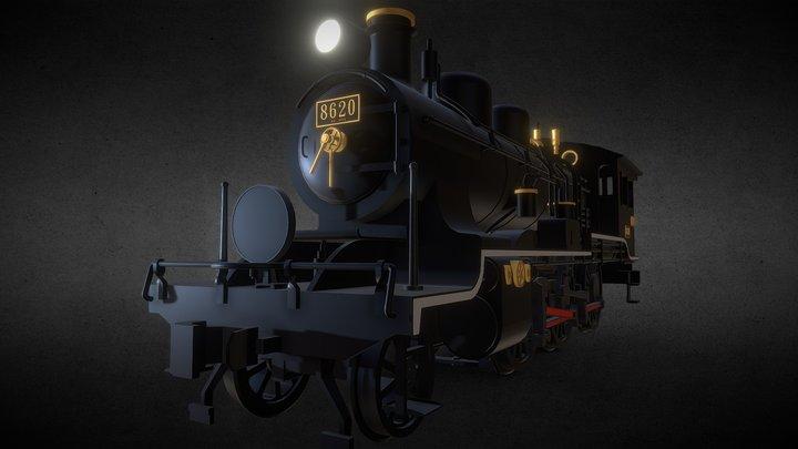 旧帝鉄8620形蒸気機関車トップナンバー機 3D Model