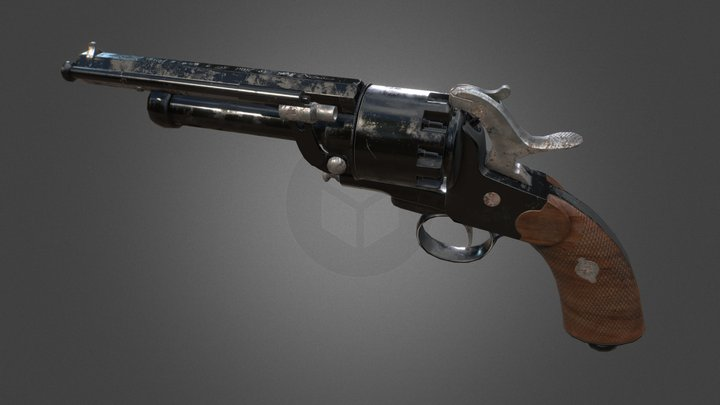 Pin Firing Pistol, UE4 Asset 3D Model