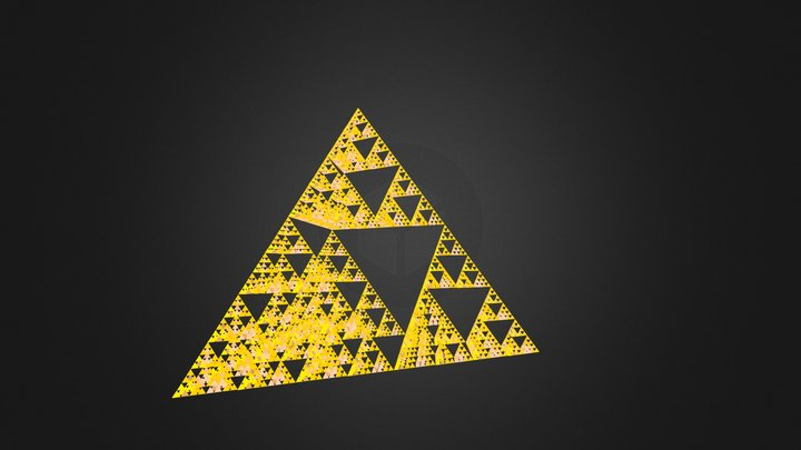 Sierpinski triangle 3D Model