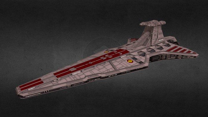 Republic Venator-class Star Destroyer 3D Model
