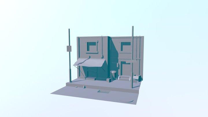 Fachada Descuidada 3D Model