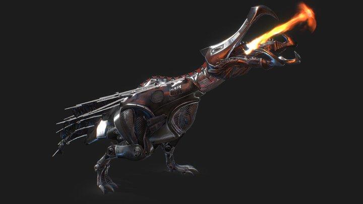 Mechanical Graboid Ass Blaster - Firebreathing 3D Model