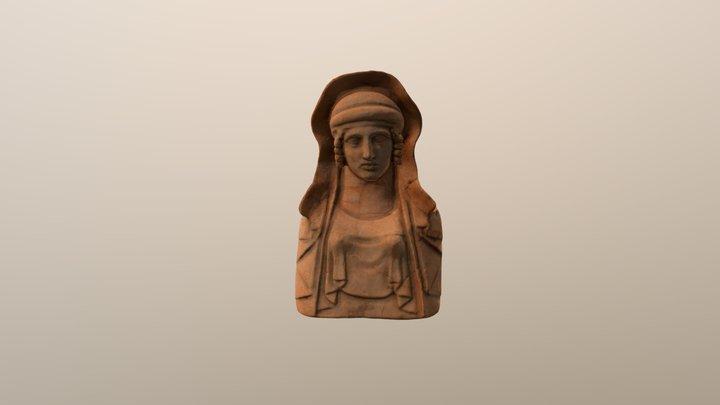 Terracota bust femení amb pèplum MAEF-4087 3D Model