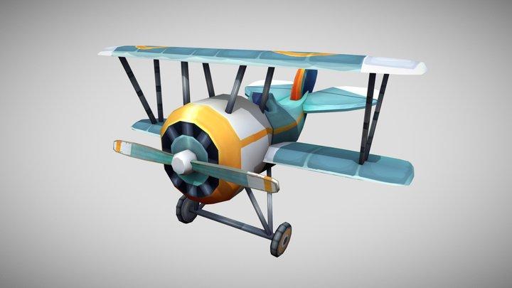 Stylized WW1 Nieuport 24 3D Model