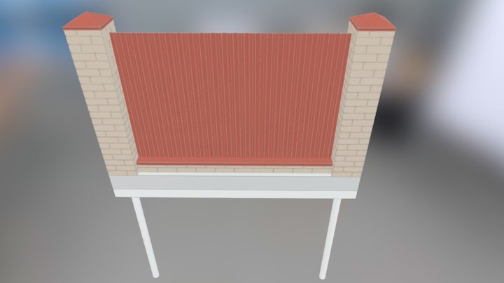 Забор 3D Model