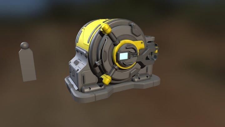 Vault Blockout Animation 3D Model
