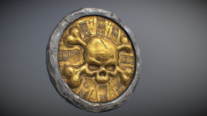Old Pirate coin 3D Model