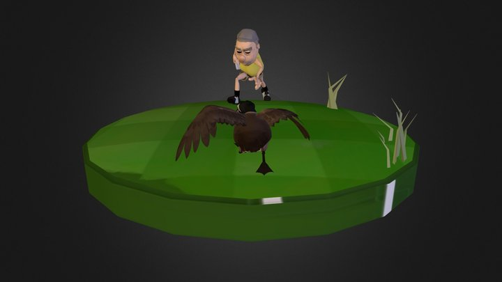 golfer and goose  3D Model