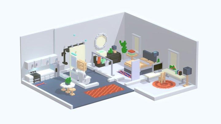 Voxel home 3D Model