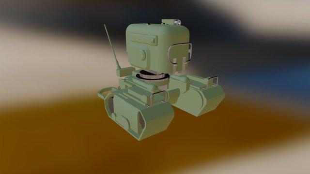 Turret01 Blockout 3D Model