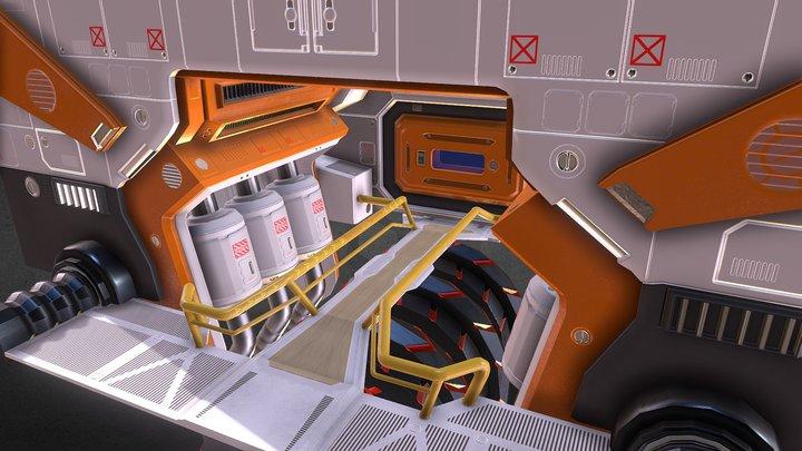 Sci-Fi Engine Room 3D Model