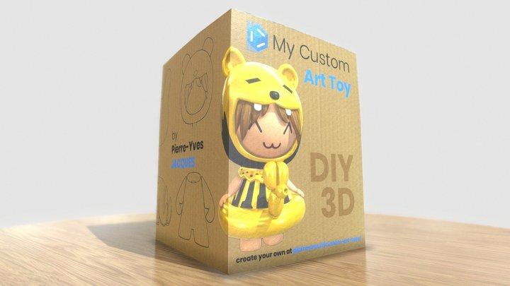DIY Art-Toy (Configurator link in description) 3D Model