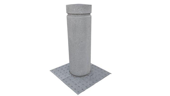 Concrete Bollard 3D Model