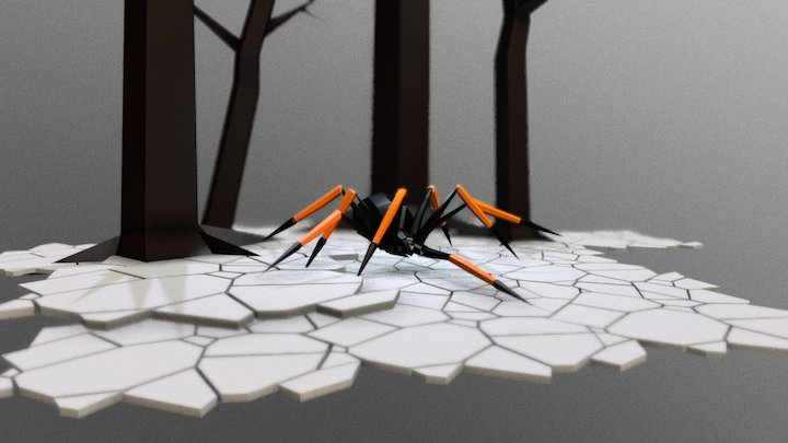 Low Poly Animals Pack (Spider) 3D Model
