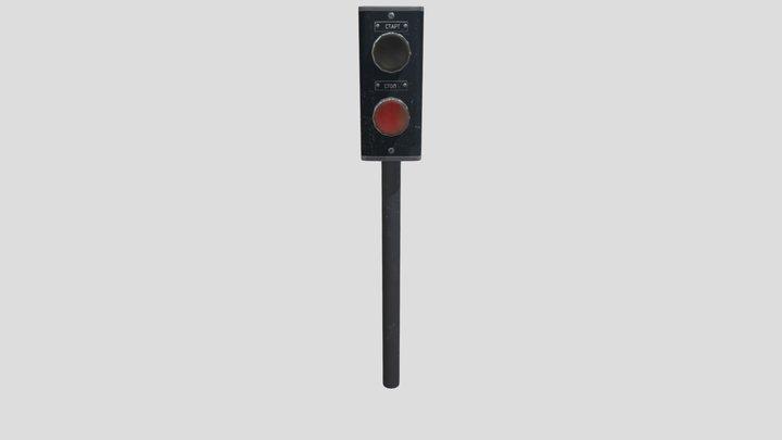 Button Start-Stop USSR 3D Model