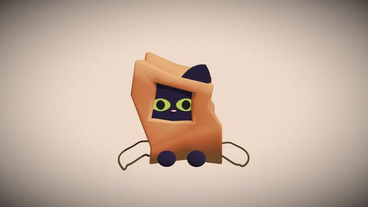 Kitty in A Bag 3D Model