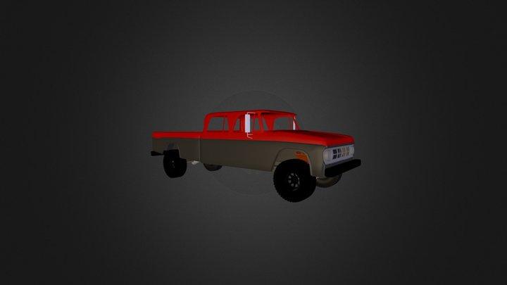 1970 Dodge power wagon crew cab 3D Model