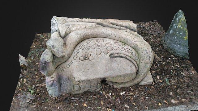 Noonuccal Totem Seat Sandstone Sculpture 3D Model