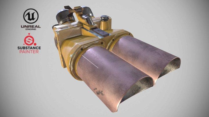 WW2_Flak_Binoculars_10x80 3D Model