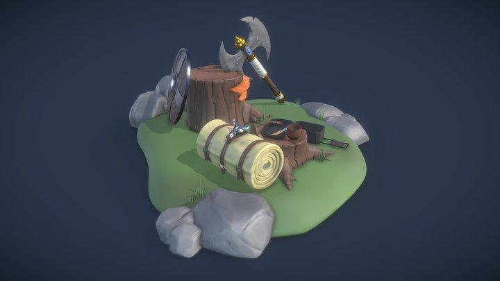 DS - Final Diorama 3D Model