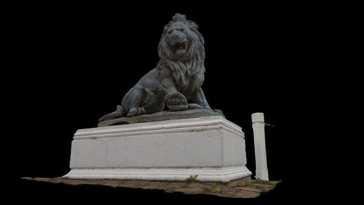 Escultura Leon - Parque Isidora Causiño, Lota 3D Model
