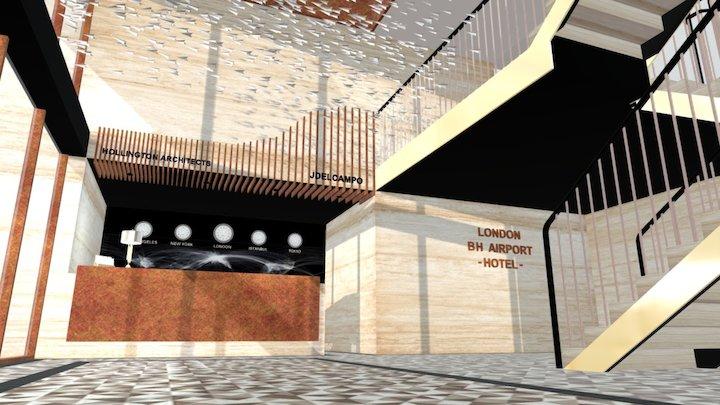 Reception - BH Hotel in London 3D Model