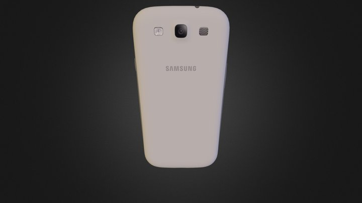 Galaxys 3S White 3D Model