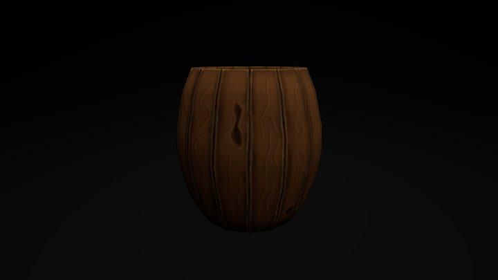 Hand painted barrel 3D Model