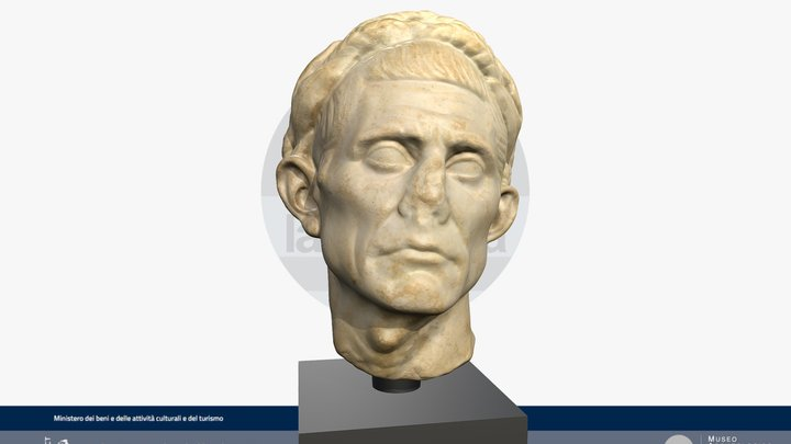 Ritratto romano di uomo anziano 3D Model