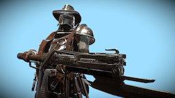 Western / Medieval crossbowman 3D Model