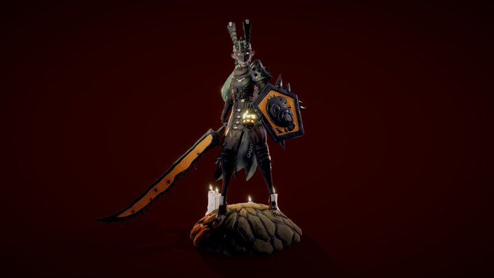 Ancient Warrior 3D Model