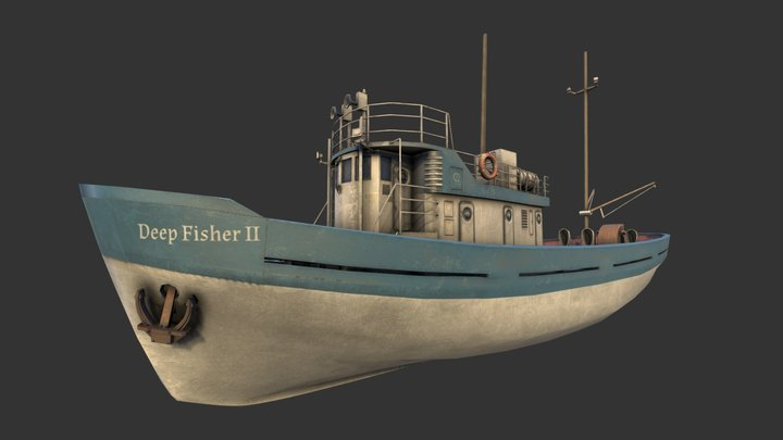 Fishing Boat (200th Model) 3D Model
