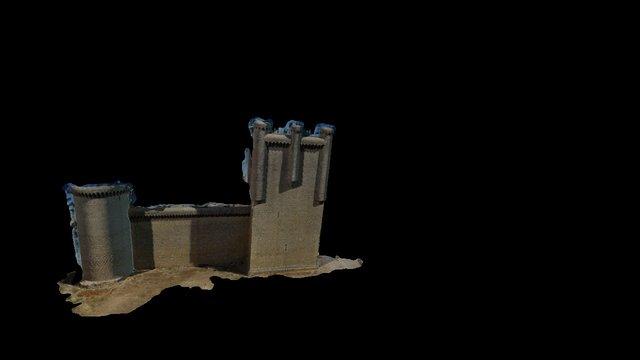 muro castillo Torrelobaton 3D Model