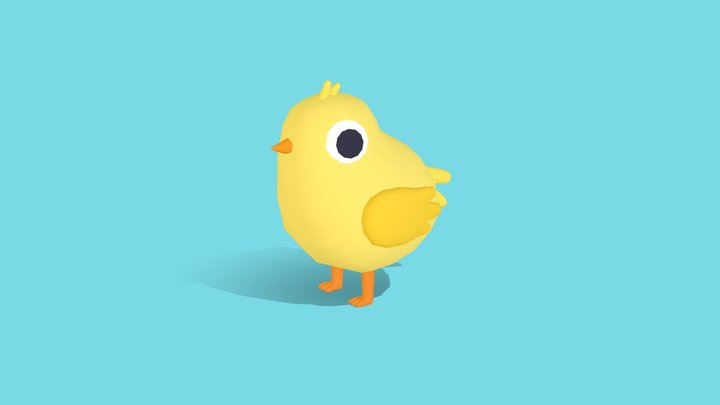 Chip the Chick - Quirky Series 3D Model
