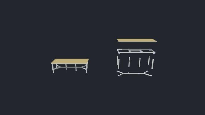 Studio Table 3D Model