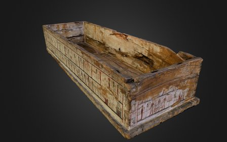 Wooden crate of egyptian sarcophagus 3D Model