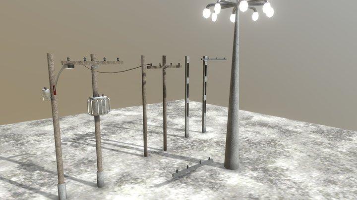 Powe Poles 3D Model