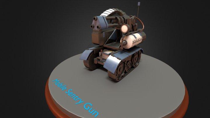 Mobile Sentry Gun - Team Fortress 2 3D Model