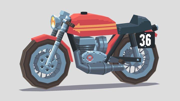 Vintage Racing Motorcycle 3D Model