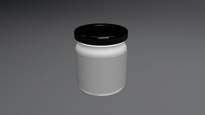 Glass Food Sauce Jar 3D Model