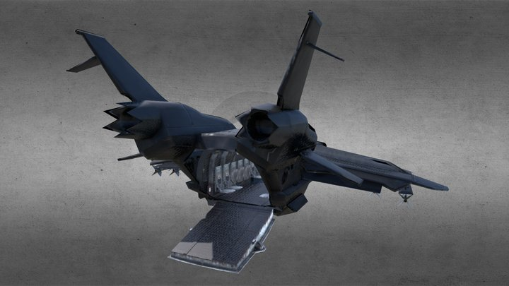 SHIELD's Avengers Quinjet | Imitated & Modified 3D Model