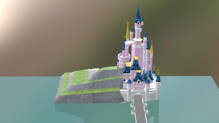 Disney Land Paris Castle. 3D Model