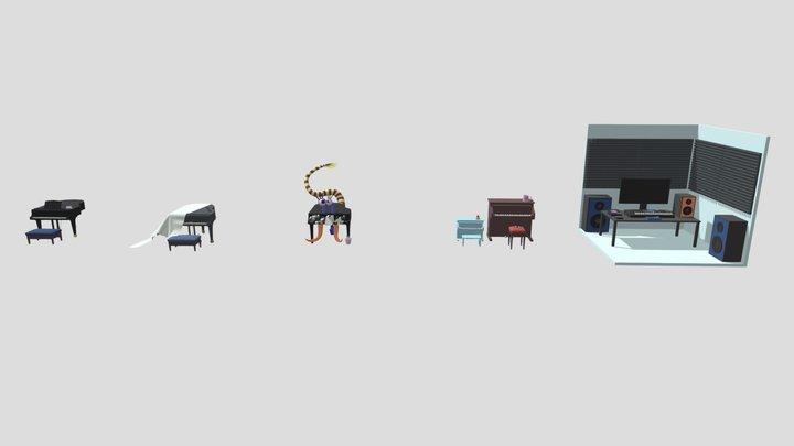 Homework for XYZ School - secondary forms 3D Model