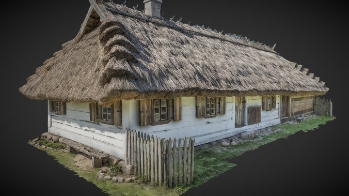 The cottage from Old Grzybowszczyzna XIX c. 3D Model