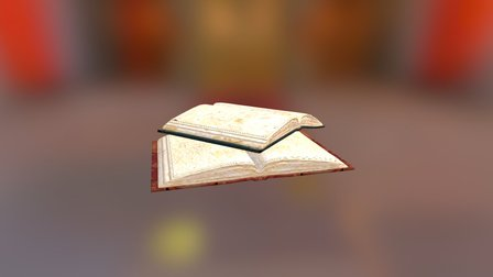 Open Books 3D Model