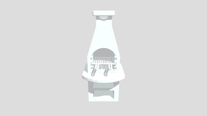 Barbecue Complet 3D Model