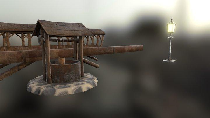 Medieval Village Props 3D Model