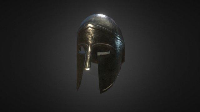Greek Helmet v2 3D Model