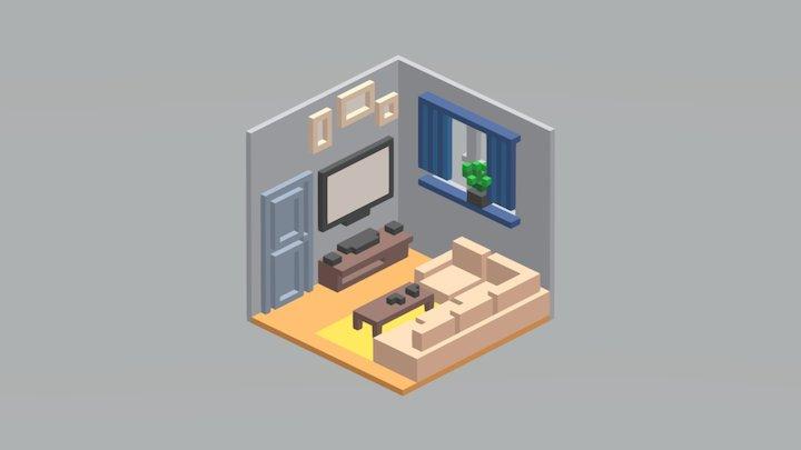Room 01 / MagicaVoxel 3D Model